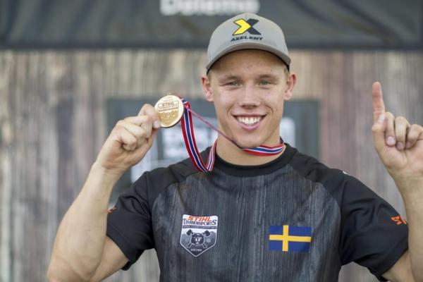 Ferry Svan är ny nordisk mästare i Timbersports. Foto: STIHL TIMBERSPORTS®.